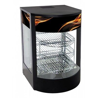 Small Hot Food Warmer Display Cabinet Counter Electric Pie Pasty Sausage