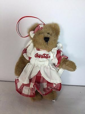 "Boyds Bears Coca Cola Ornament - LYNETTE - 6"" Coke Plush Stuffed Toy"