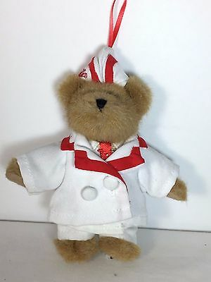 "Boyds Bears Coca Cola Ornament - AL - 6"" Coke Soda Pop Plush Stuffed Toy"