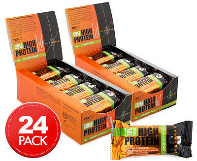 2 x Systemax High Protein Bars Choc Mint 32g 12pk