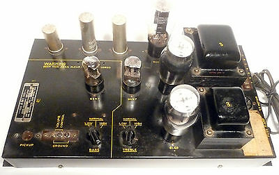 "AMI all D & E JUKEBOX MODELS --  Upgraded / Working  MONO ""DD"" TUBE AMPLIFIER"