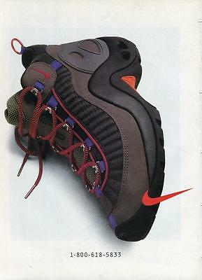 Vintage Print Ad For Nike Boot Shoe Ready To Be Framed Or Gift Idea!
