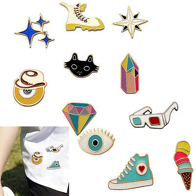 1X NEW Cute Cartoon Brooch Enamel Shirt Label Pin Collar Pins Badge Jewelry Gift