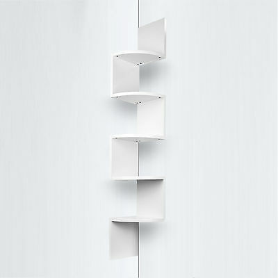 Floating 5 Level Corner Wall Mount Shelf Zig Zag Storage Home Decor Display AU