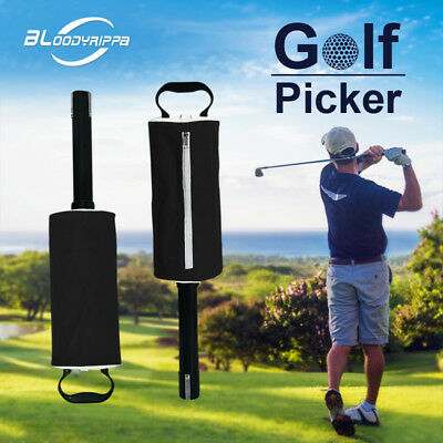 Black Golf Ball Pickup Pick up Shag Bag storage holder Retriever Collector New