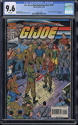 G.I. Joe A Real American Hero #155 CGC 9.6 W Pages Last Issue Neal Adams Pin-up