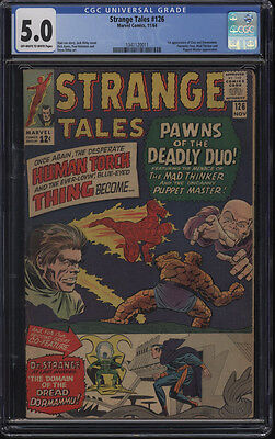 Strange Tales #126 CGC 5.0 OW to WP 1st appearance of Clea and Dormammu