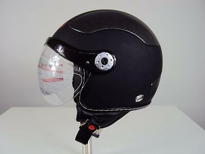XRH Jet X Motorcycle Helmet, open face with visor
