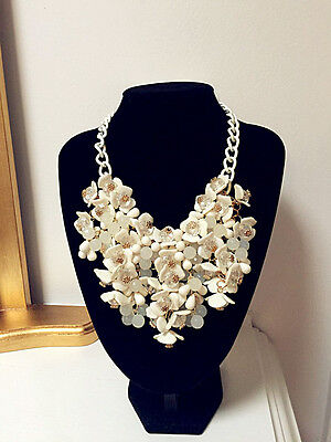 Necklace Pendant Crystal Flower Chunky Bib Statement Fashion for Women