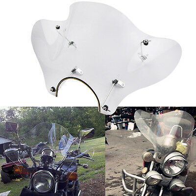 Universal Motorcycle Clear Windshield Windscreen Mounting Kit For Harley Cruiser