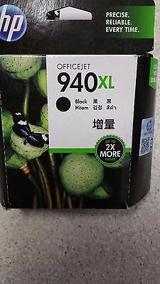 Genuine HP 940XL, C4906AA  Black  Ink Cartridge   New, See Photos