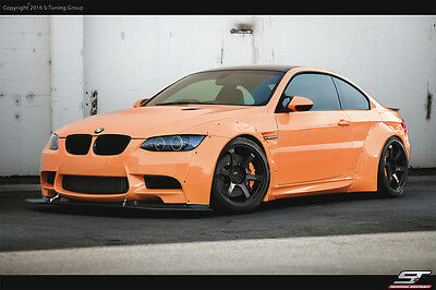 Wide Bodykit Wheel Arch Fender Flare Fit For BMW E92 M3 2008-2012