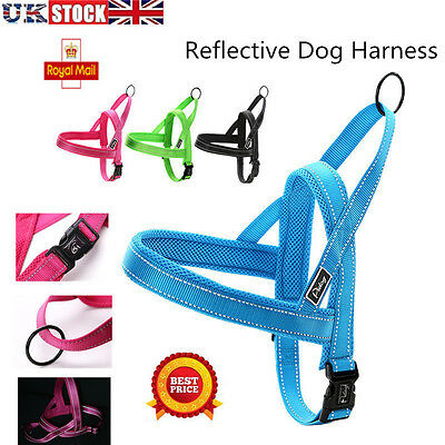 Quick Fit Dog Harness Reflective No-Pull Adjustable Pet Mesh Padded Harness UK
