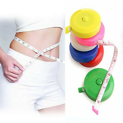 1.5M Retractable Tape Measure Sewing Cloth Tailor Dieting Tapeline Ruler