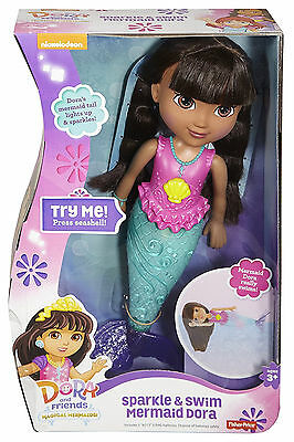 Girls Toys Dora Friends Sparkle and Swim Mermaid Dora Doll Swimming Toy Adventur