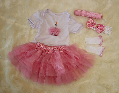 Set of Reborn Baby 's Girl Clothes for 20''-22'' Newborn Baby, NOT Included Doll
