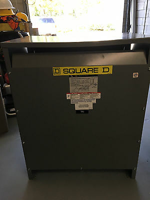 used SQUARE D TRANSFORMER : EE75T3H : 75kva : 480 / 208Y / 120