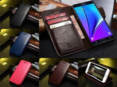Genuine Musubo Leather Wallet Flip Stand Case Cover For Samsung Galaxy S9 Note 9