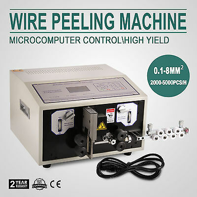 110V Automatic Computer Wire Peeling Stripping Cutting Machine 0.1-8 mm²