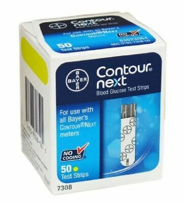Bayer Contour Next Blood Glucose Test Strips 50 1 2 3 6 Packs
