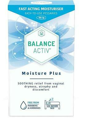 Balance Activ Moisture Pessaries Plus 10 x 2g 1 2 3 6 Packs