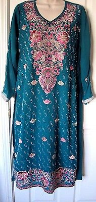 Pakistani Indian Sea Green Salwar Shalwar Kameez Eid Party Wear
