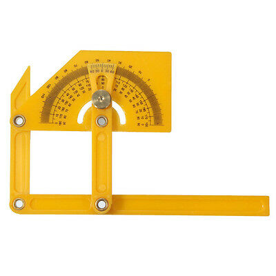 180 Degree Protractor Woodworker Gniometer Gauge Angle Square Angle Metric Tool