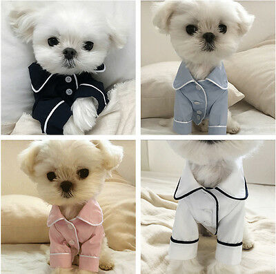 Hot Various Pet Puppy Small Dog Cat Pet Clothes Sleep T Shirt Apparel Clothes