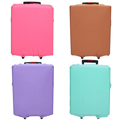 """Elastic Travel Luggage Spandex Cover 18-30"""" Suitcase Protector Solid Color S/M/L"""