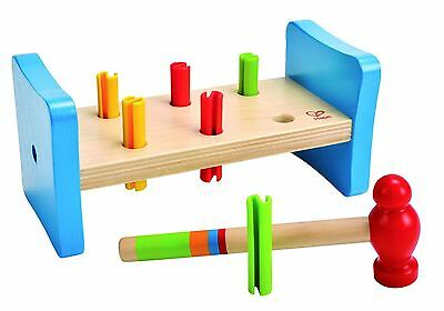 Hape First Pounder Wooden Bashing Toy E0503 12 Months + 8 Pieces NEW