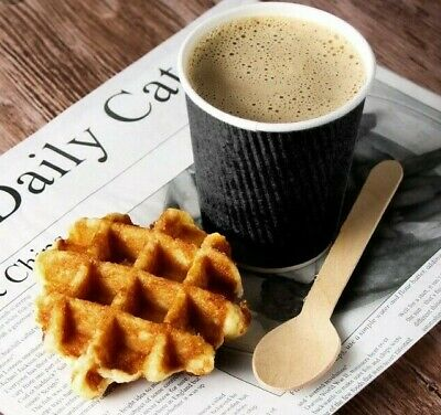 * 12oz Black Ribbed Insulated Ripple Disposable Paper Coffee/Tea Hot Drink Cups