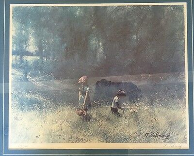 """RARE Adolph Sehring 22.5""""x26"""" SIGNED/NUMBERED 54/500 Matted Framed"""