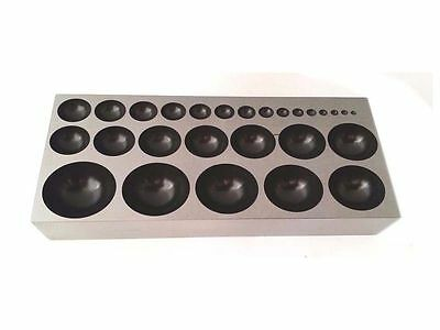 Flat Dapping Block High Grade Steel Forming Die W/ 27 Domes Jewelry Making Tool