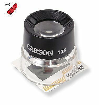 Carson LumiLoupe 10X Power Stand Magnifier (LL-10), FREE FAST SHIPPING