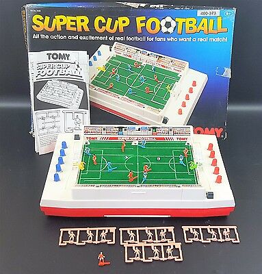 Tomy Super Cup Football Retro 1980's Classic Vintage Game Fully Working Tested