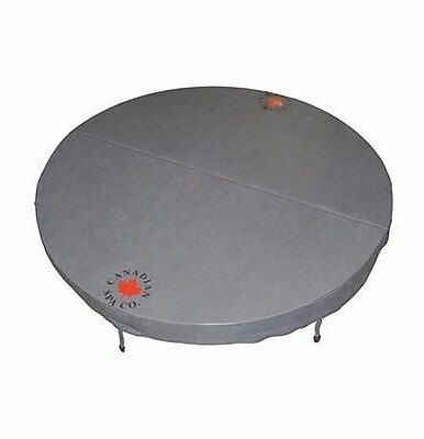 Round Spa Cover Grey Vinyl Made UV Protected Child Protected Lock System 1980mm