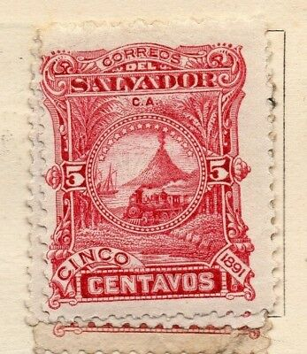 Salvador 1891 Early Issue Fine Mint Hinged 5c. 152565