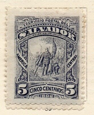 Salvador 1892 Early Issue Fine Mint Hinged 5c. 152574