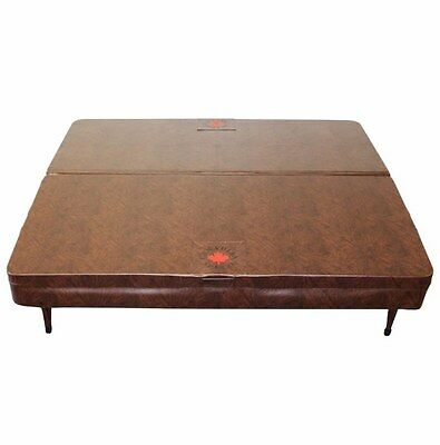 Square Spa Cover Vinyl Made Suitable For Rectangular Spas Round Corner Brown New