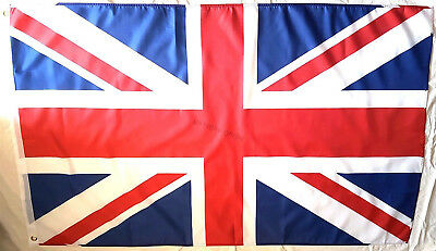 Union Jack Flag Anti Fraying Sewn Large -  Great Britain British GB UK 3x5 5x3