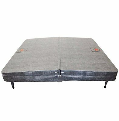 Spa Cover Grey Vinyl UV Protected Perfect For Rectangular Hot Tub 2130mmx120mm