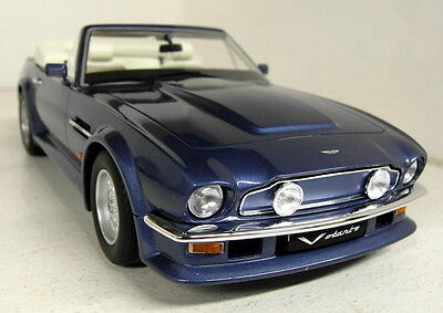 GT Spirit 1/18 Scale - Aston Martin V8 Volante Met blue Resin sealed Model Car