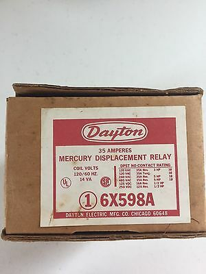Dayton 6X598A Mercury Displacement Contactor Relay Switch NEW IN BOX