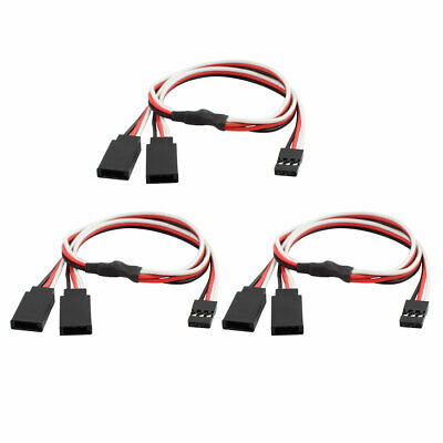 3 Pcs M/F JST Y Splitter Connector Cable for RC Model Lipo Battery Charger 30cm