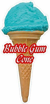Soft Scoop Bubble Gum Ice Cream Cone Sticker Large