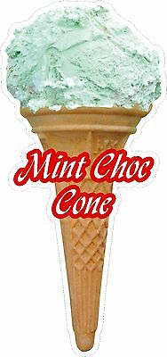 Soft Scoop Mint Choc Ice Cream Cone Sticker Large