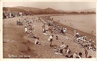 POSTCARD   SOMERSET  WESTON  SUPER  MARE   Blue  Anchor  The  Beach    RP