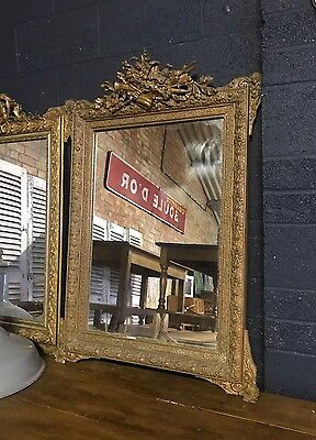 Stunning 19th Century Antique French Ornate Gold Framed Mirror