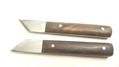 2pc. Woodworking Woodcarving Marking Carpenters Striking Knives Angled