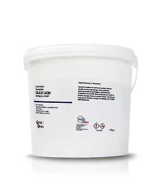 1KG Hull Deck GRP Cleaner & Rust Remover OXALIC ACID 1K  (Heat Seal Tub)